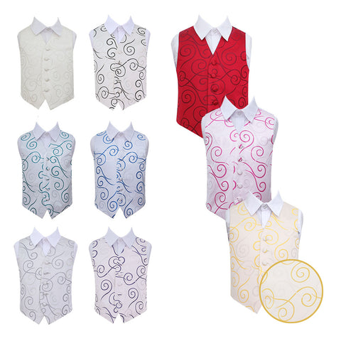 Scroll Waistcoat in 9 colours - Boys