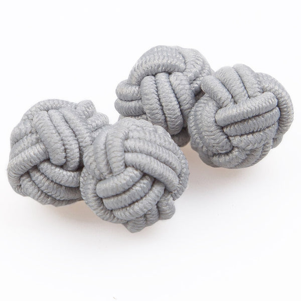 Plain Knot Fabric Cufflinks in 10 colours