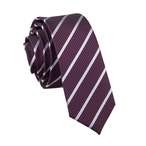 Single Stripe Skinny Tie in 16 colours