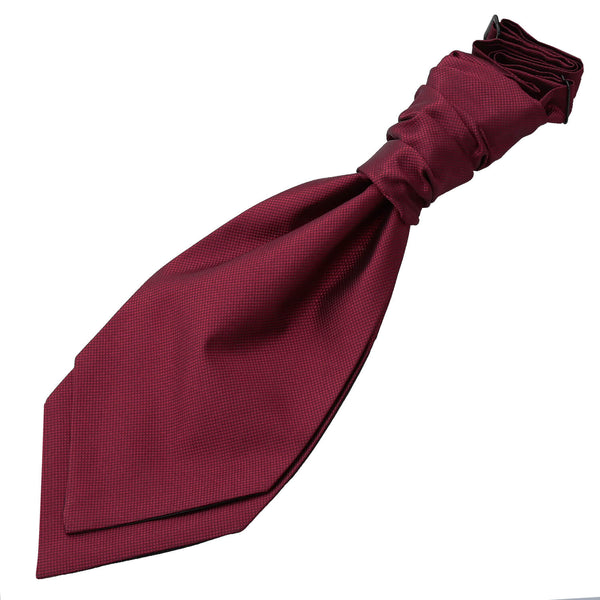 Solid Check Pre-Tied Ruche Cravat in 14 colours - Boys