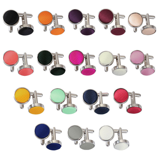 Solid Check Cufflinks in 17 colours