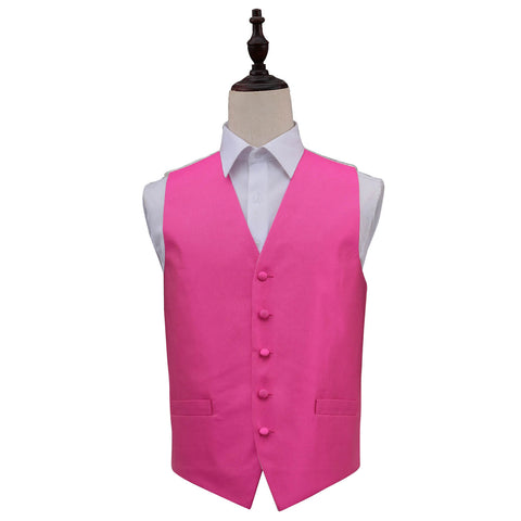 Solid Check Waistcoat in 2 pink colours
