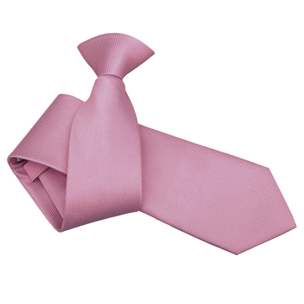 Solid Check Clip On Slim Tie in 17 colours