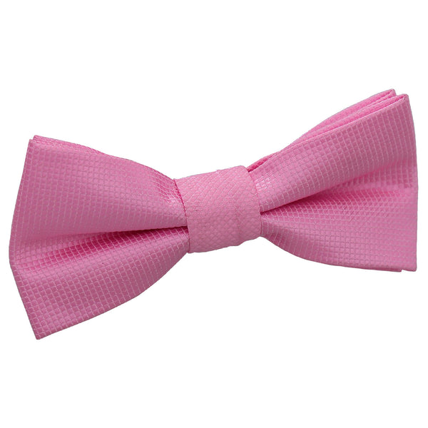 Solid Check Pre-Tied Bow Tie in 14 colours - Boys