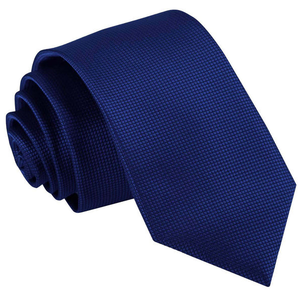 Solid Check Slim Tie in 17 colours
