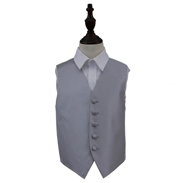 Solid Check Waistcoat in 14 colours - Boys