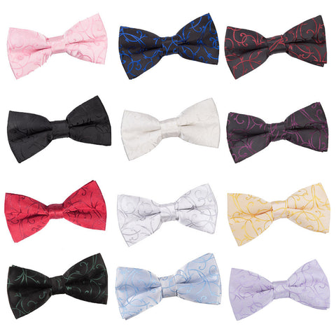 Swirl Pre-Tied Bow Tie in 12 colours - Boys