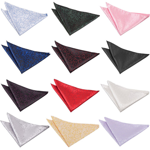 Swirl Pocket Square in 12 colours