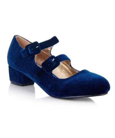 Tamara Block Heel Blue - Ladies Fashion Shoes