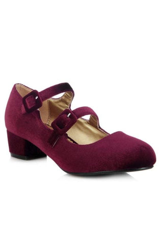 Tamara Block Heel Burgundy - Ladies Fashion Shoes
