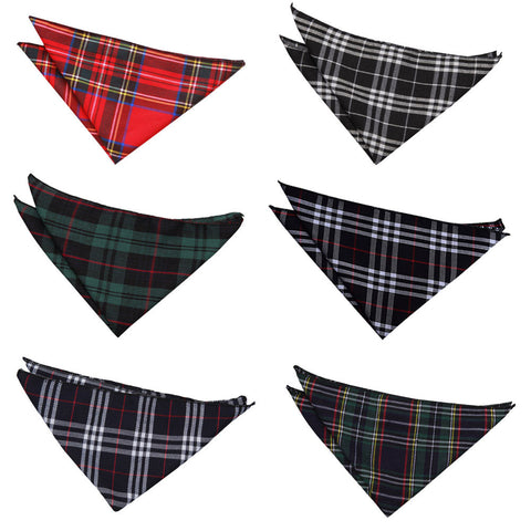 Tartan Pocket Square in 6 colours