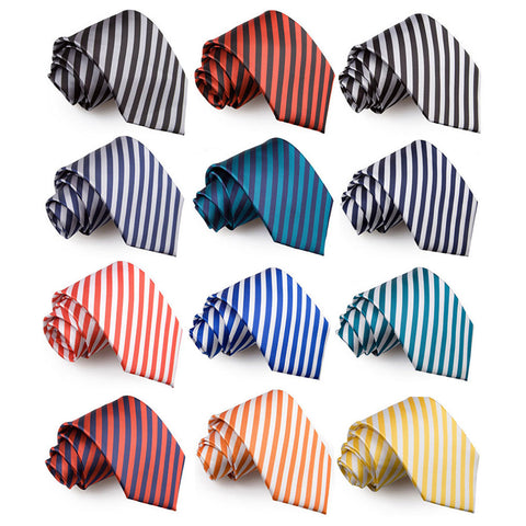 Thin Stripe Classic Tie in 12 colours
