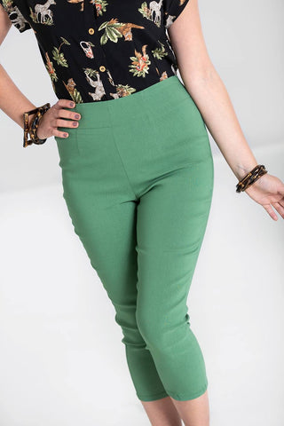 Tina Capri Pants in Khaki - Kit'n'Heels