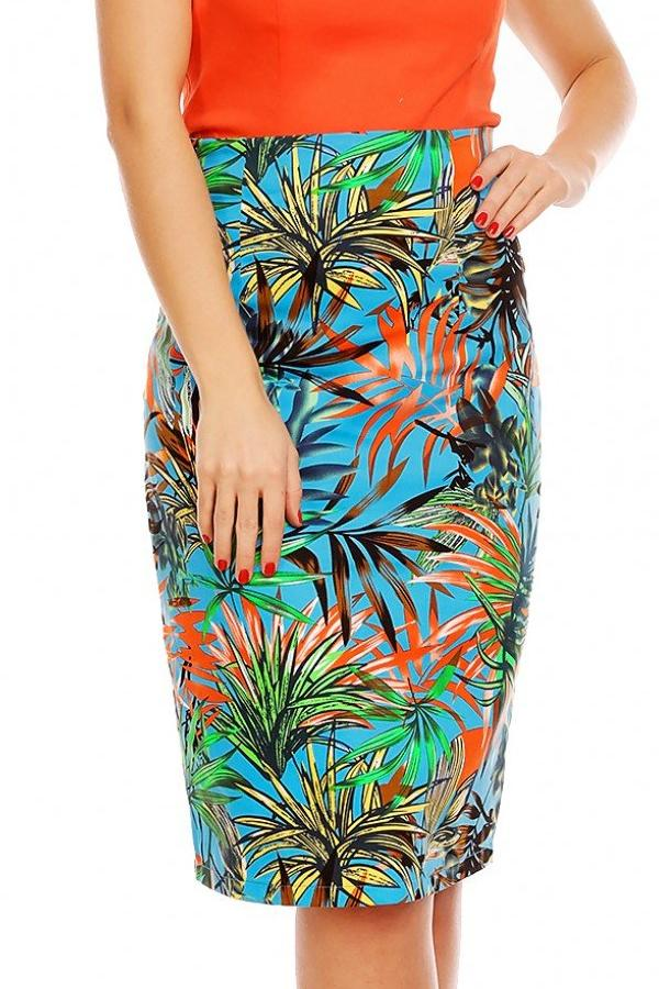 Dolly and Dotty Falda Vintage Inspired Floral Pencil Skirt