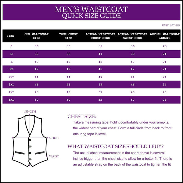 Solid Check Waistcoat in 12 colours