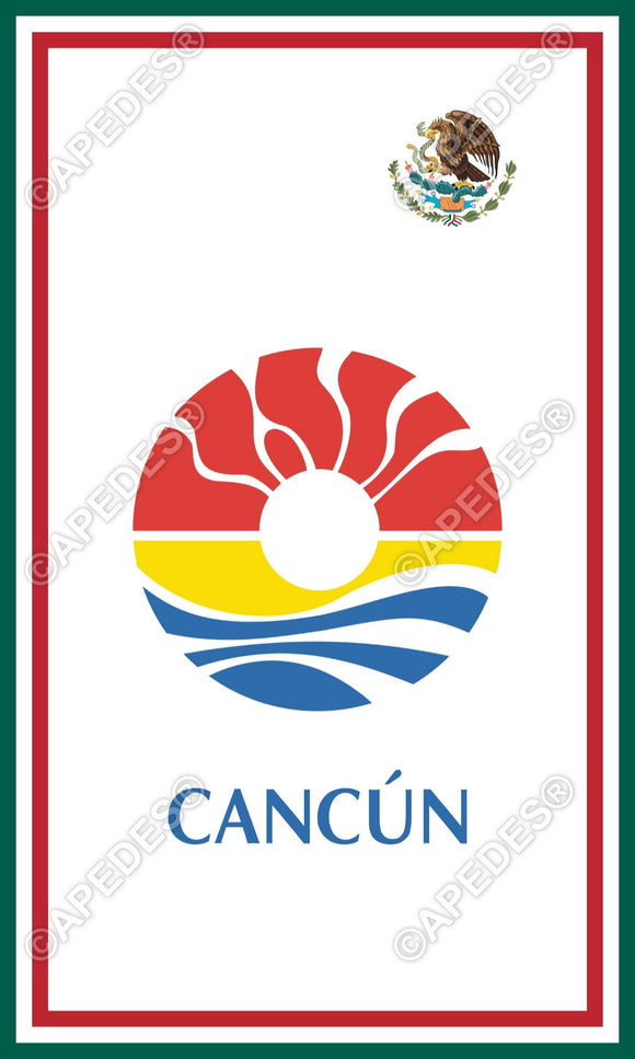 Cancun City Mexico Decal Sticker 3x5 inches