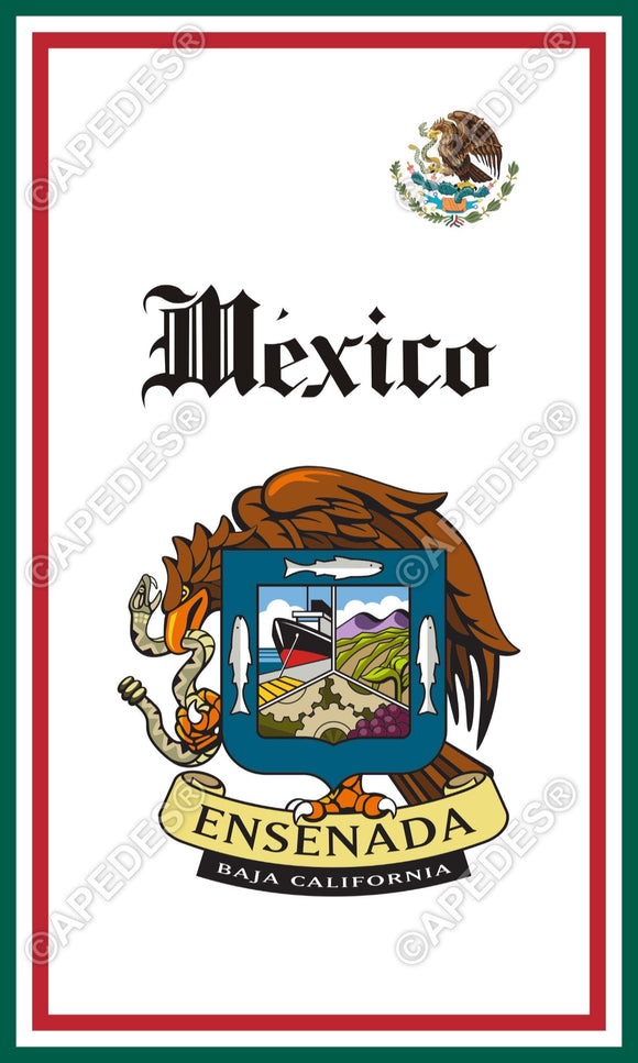 Ensenada City Mexico Decal Sticker 3x5 inches