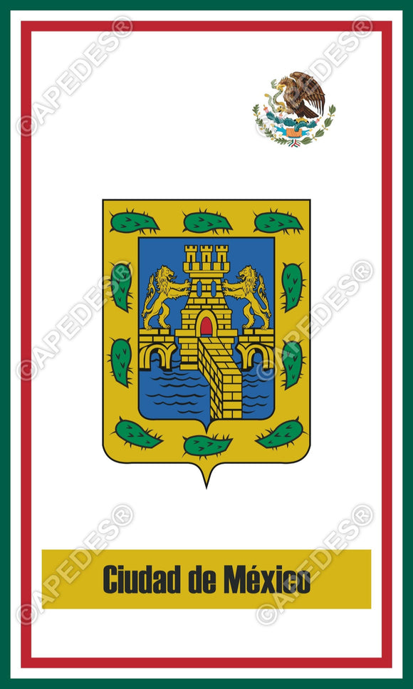 Mexico City Mexico Decal Sticker 3x5 inches