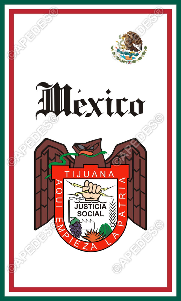Tijuana City Mexico Decal Sticker 3x5 inches