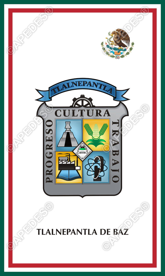 Tlalnepantla de Baz Mexico Decal Sticker 3x5 inches