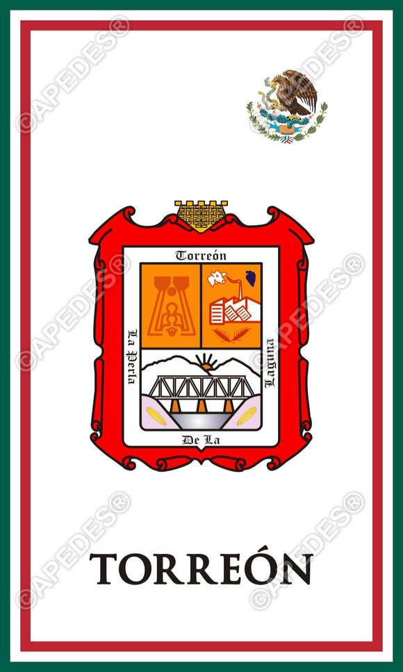 Torreon City Mexico Decal Sticker 3x5 inches