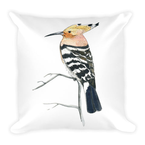 The hoopoe (Удод by Nataly Minchuk) Pillow