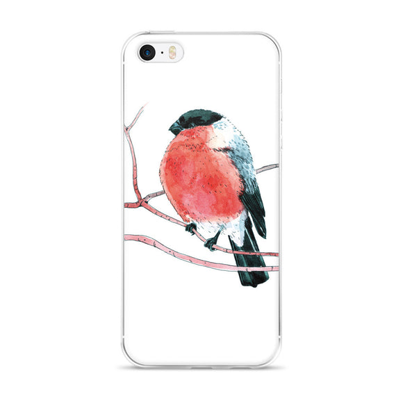 Eurasian bullfinch (Снегирь by Nataly Minchuk) iPhone case - Apedes Flags and Banners