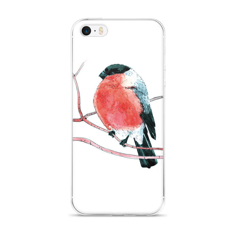 Eurasian bullfinch (Снегирь by Nataly Minchuk) iPhone case