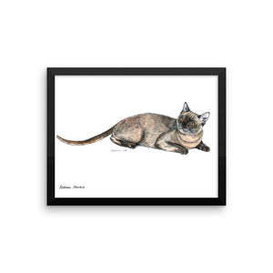 Burmese cat (by Nataly Minchuk) Framed poster