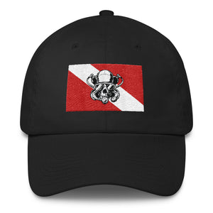 Diver Down Flag Cotton Cap - Apedes Flags and Banners