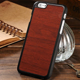 Wooden Pattern Plastic Case for iPhone 6 4.7 Inch Black PC Hard Back Cover 8 Colors New Arrival Protective Phone Bag Shell