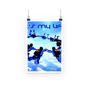 Sky Diving Poster