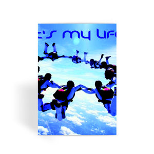 Sky Diving Greeting Card