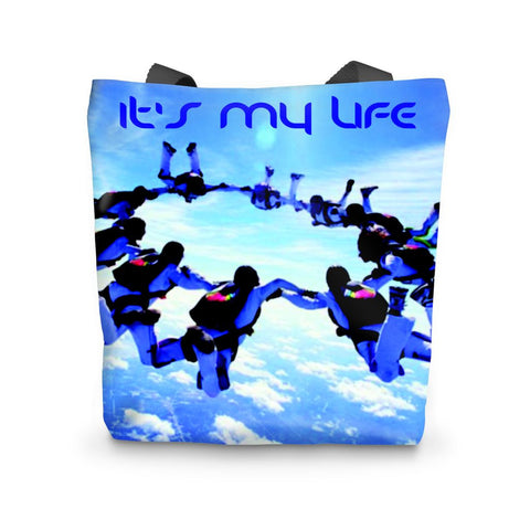 Sky Diving Tote Bag