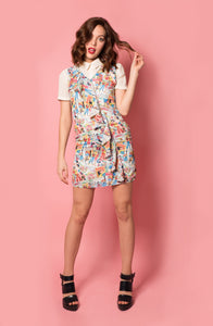 Comic Print Ruffle Dress