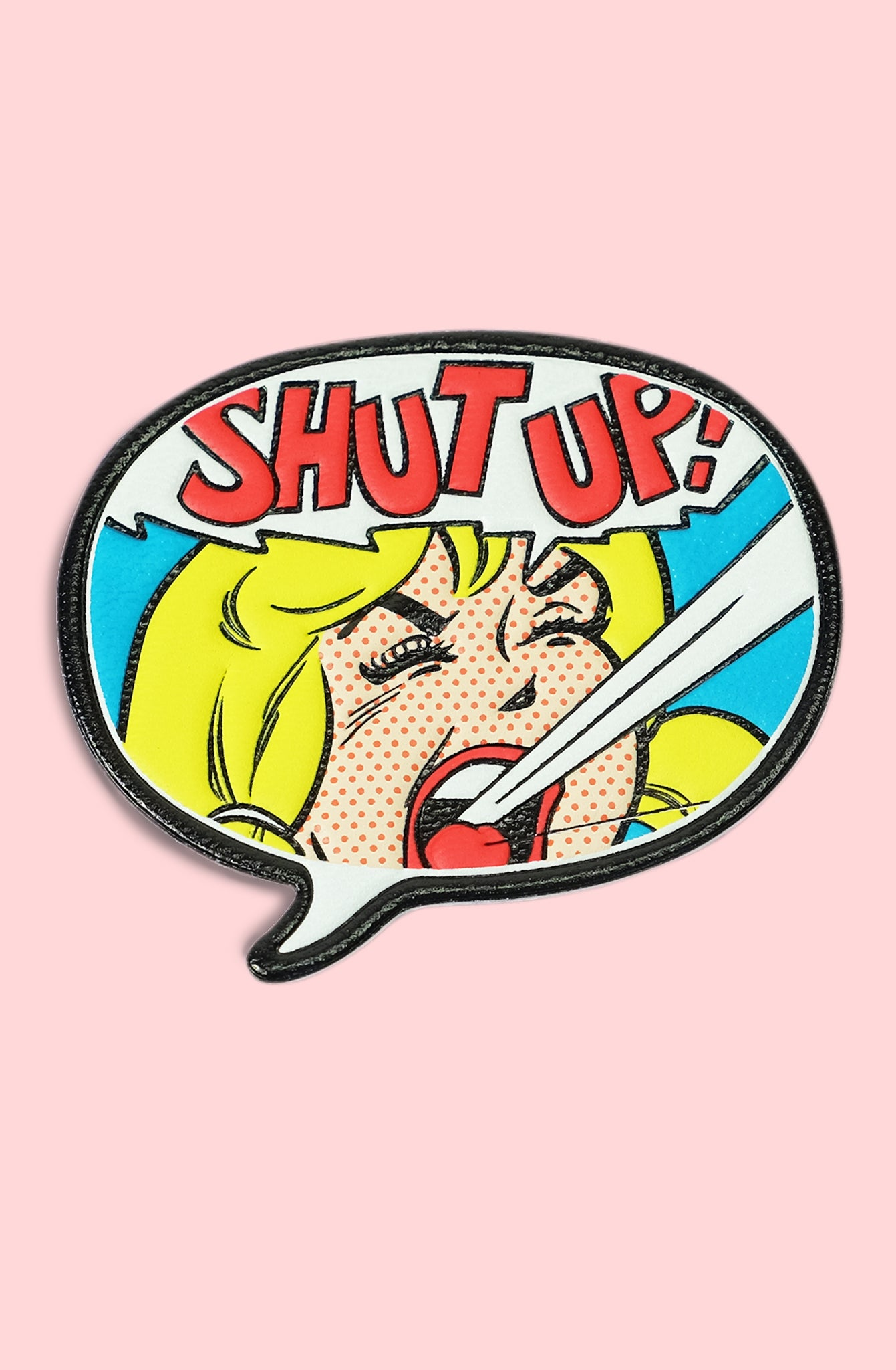 Betty Pop Art Leather Patch