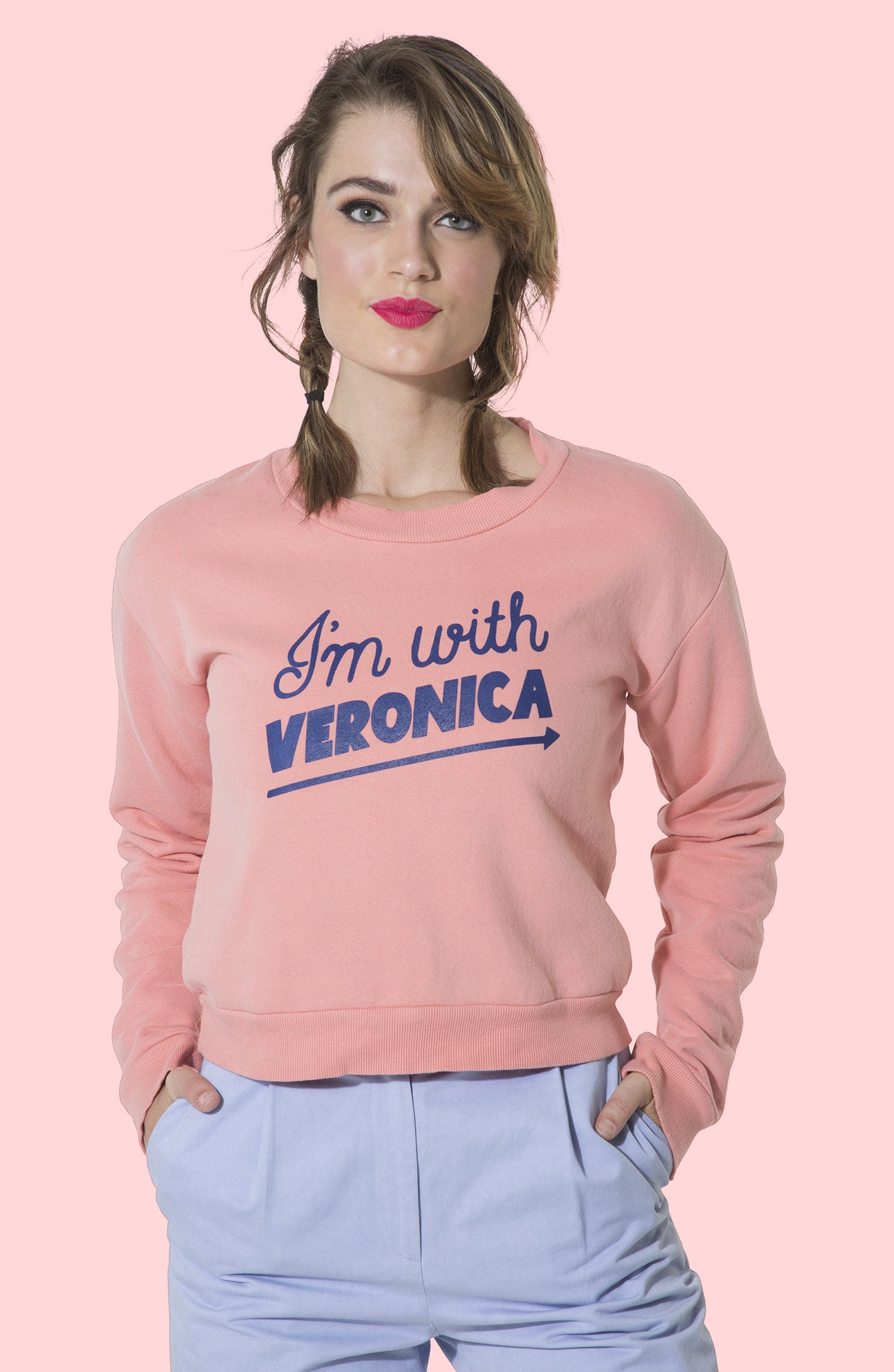 I'm With Veronica Cropped Sweatshirt