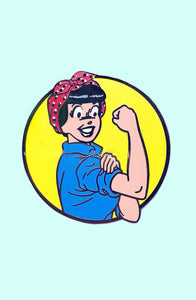 RONNIE THE RIVETER PIN