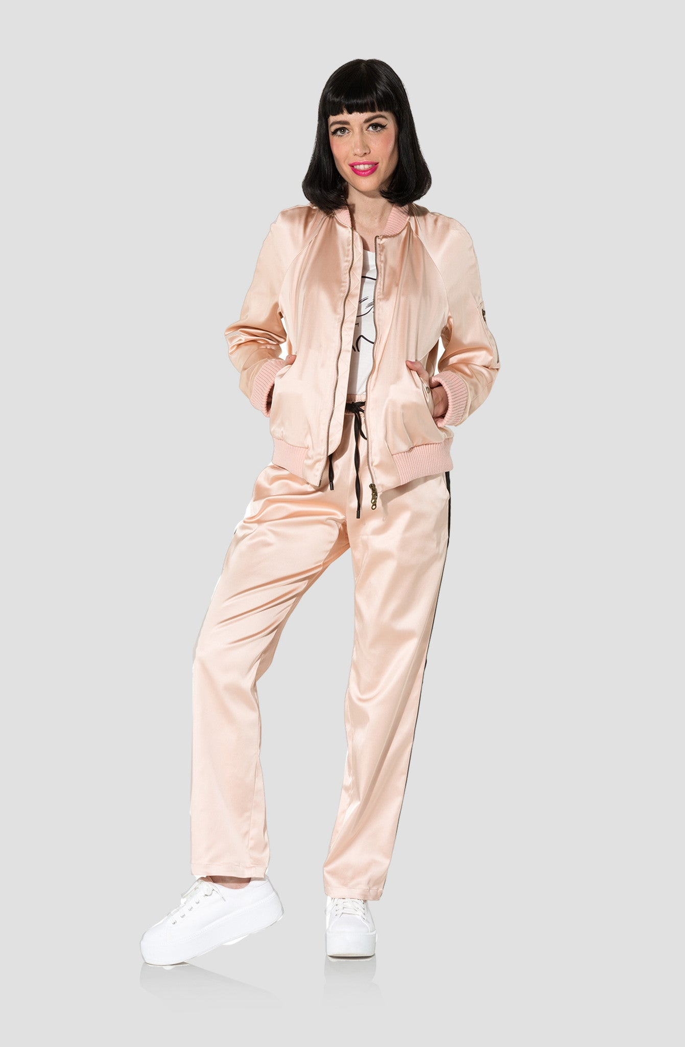 Drawstring Satin Pants