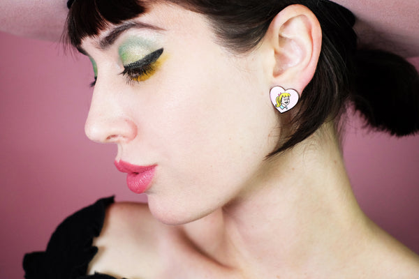 BETTY & VERONICA HEART EARRINGS