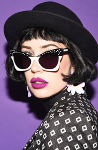Ethel Sunnies - Black & White Polka Dot