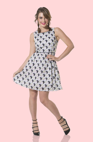 B&V Faces Skater Dress