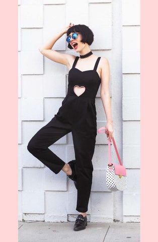 Jumpsuit w/ Cutout Heart