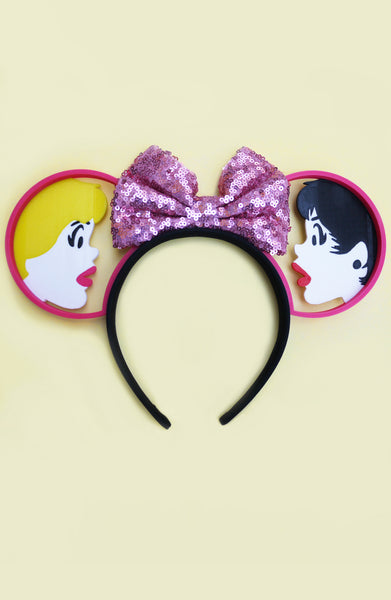 B&V x Imaginexears Pink Bow Headband