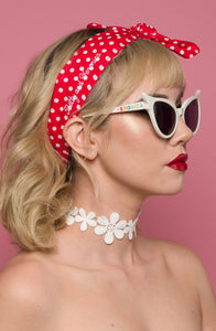 Retro Headscarf - Red Polka Dot