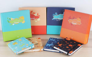4 BOXES SEASONAL COLLECTION HARDCOVER NOTEBOOK GIFT SET(SPRING, SUMMER, AUTUMN, WINTER)