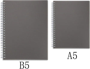 Miliko Dark Transparent Hardcover B5 Wirebound Notebook Set(Square Grid)