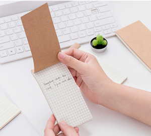 Miliko Pocket Notepad Hand Size(To Do List, Square Grid, Ruled)
