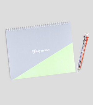 A4 One Semester Study Planner & A4 Life Planner with Multicolor Pen