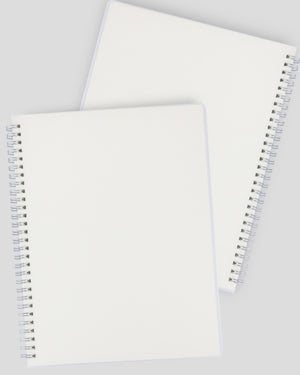 Miliko Transparent Hardcover B5 Wirebound Notebook Set(Blank)